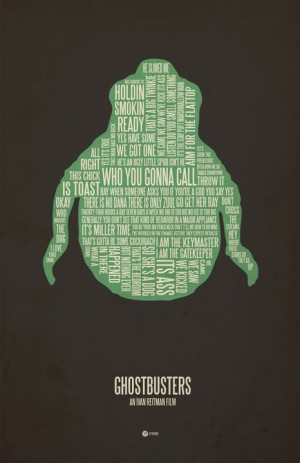 ghostbusters poster. Awesome typography