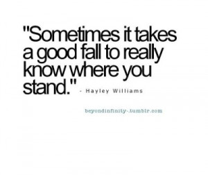 where you stand.
