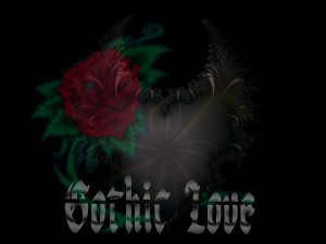 Gothic Love Hearts Gothic love
