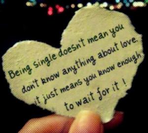 Single life living...