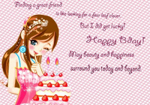 Cute Girl Wish You Happy Birthday Wishes Cards