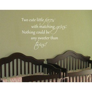Baby Twin Saying Quote Wall Decal Nursery Vinyl Decor