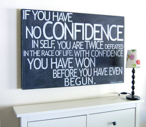 Subway Art- Marcus Garvey quote, Confidence