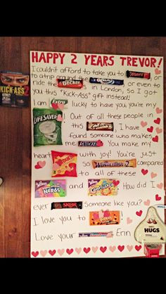 One Month Anniversary Quotes For Boyfriend With Candy