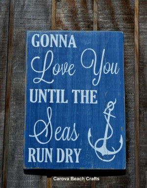 ... Coastal Couples Gift Wood Sign Baby Shower Love Quote... by ES.chae75