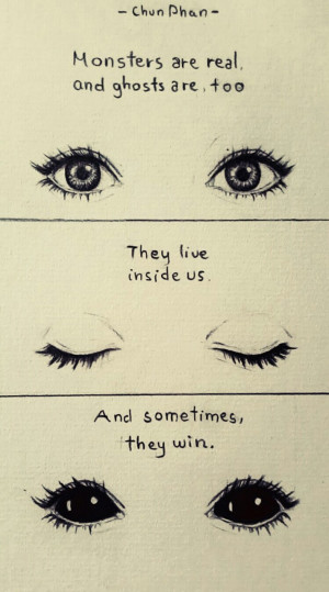 drawing eyes quotes creepy Sketch monster ghost Stephen King pencil ...