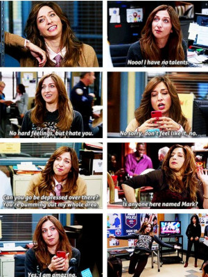 love Gina and Brooklyn 99. She and Rosa are my role models. :) # ...