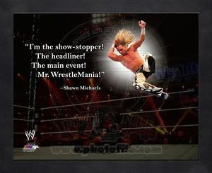 Shawn Michaels WWE 8x10 Black Wood Framed Pro Quotes Photo Combined ...