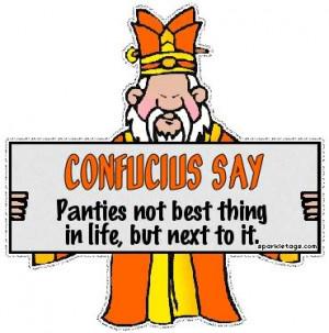 Confucius say Image