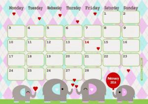 February Calendar Happy...