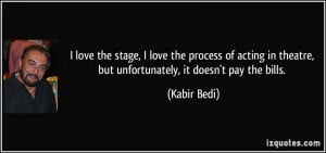 Quotes About Theatre And Acting Of acting in theatre,