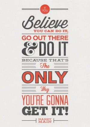 Inspirational Quote Typography Design Poster