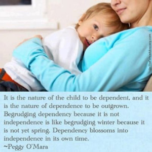 ... be.... all in its own time..... xoxo #parenting #quote #independence
