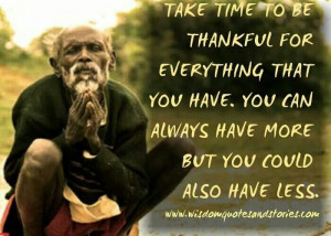Just be thankful!! ♥