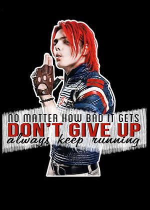 DangerLine › Portfolio › Gerard Way quote #1 (on black)