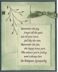 sympathy cards google search more drs design handmade sympathy cards ...
