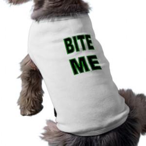 Bite Me - Bold Neon Green and Black Pet Tee