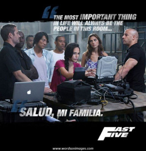 Fast and Furious Best Quote