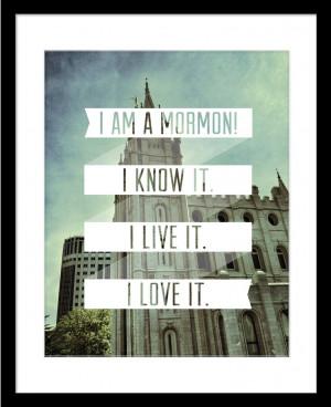 am a Mormon LDS quote w/temple. $15.00, via Etsy. Find more LDS ...