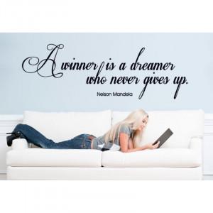 winner is a dreamer...