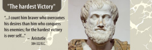 """Famous Quotes – Aristotle on """"Victory"""""""