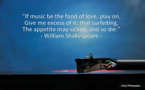 William Shakespeare, Twelfth Night - Music Quote
