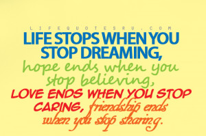 love ends when you stop caring quotes on living life quotes about ...