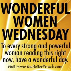 Happy Wednesday my wonderful women.