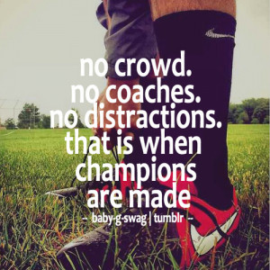 Noi Crowd No Coaches No Distraction That Is When Champions Are Made