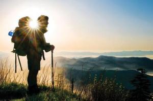 sunset adventure sunrise mountain hiking backpacking Camping Exploring ...