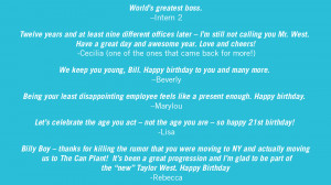 Happy Birthday For Women Quotes Quotes. happy birthday, bill!