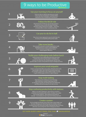 Infographic]-9 ways to be Productive