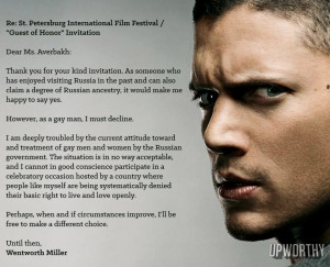 wentworth and luke Wentworth Miller Comes Out as Gay