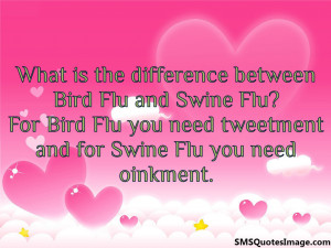 Difference between Bird Flu and Swine Flu...