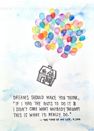 Dreamer Novel Quotes Watercolor Print by starsoaked on Etsy