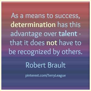 Determination's advantage over talent...