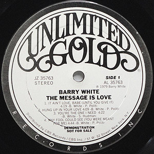 Barry White The Message Love