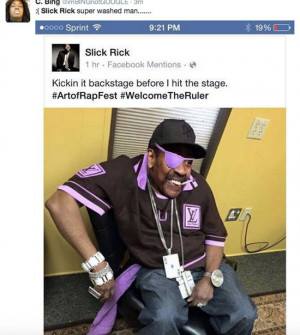 What Are You Wearing Slick Rick? (10 Photos) - NoWayGirl