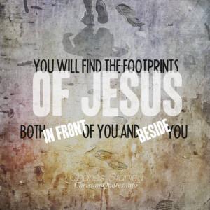 Charles Stanley Quote – Footprints of Jesus