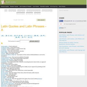 Latin Mottos, Latin Phrases, Latin Quotes and Latin Sayings