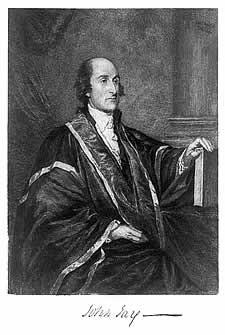 John Jay, three-quarter length portrait, seated, facing right; left ...