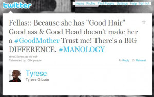 Jealous Baby Mama Quotes Tyrese shades his baby mama