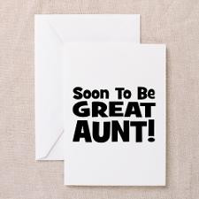 Soon To Be Great Aunt! Greeting Card for