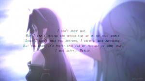 Sword Art Online, Konno Yuuki, quotes