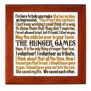 Cinna Gifts > Cinna Living Room > Hunger Games Quotes Keepsake Box