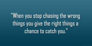 Stop Chasing