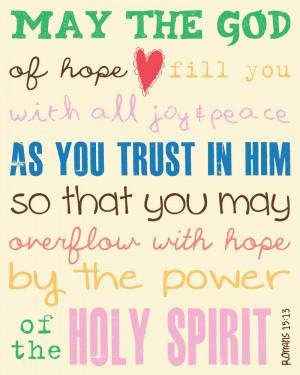 Bible Verses On Faith And Trust