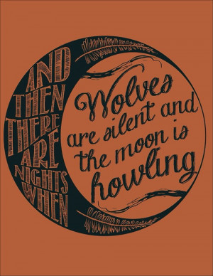 Illustration art mine wolf Cool hot quotes hipster design My art moon ...