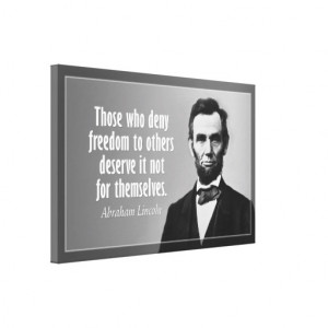 Abraham Lincoln Quote on Freedom Stretched Canvas Print