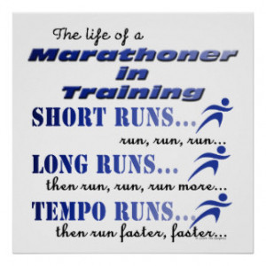 Funny Running Sport Run Marathon Life In Training Poster